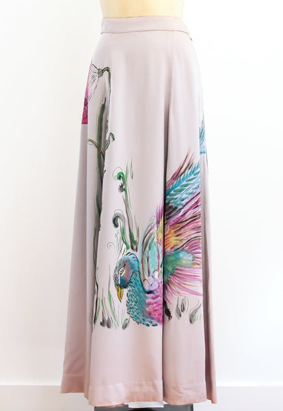 Peacock Painted Skirt