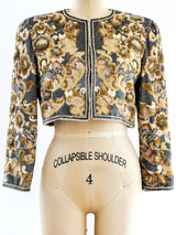 Bill Blass Sequin Cropped Jacket