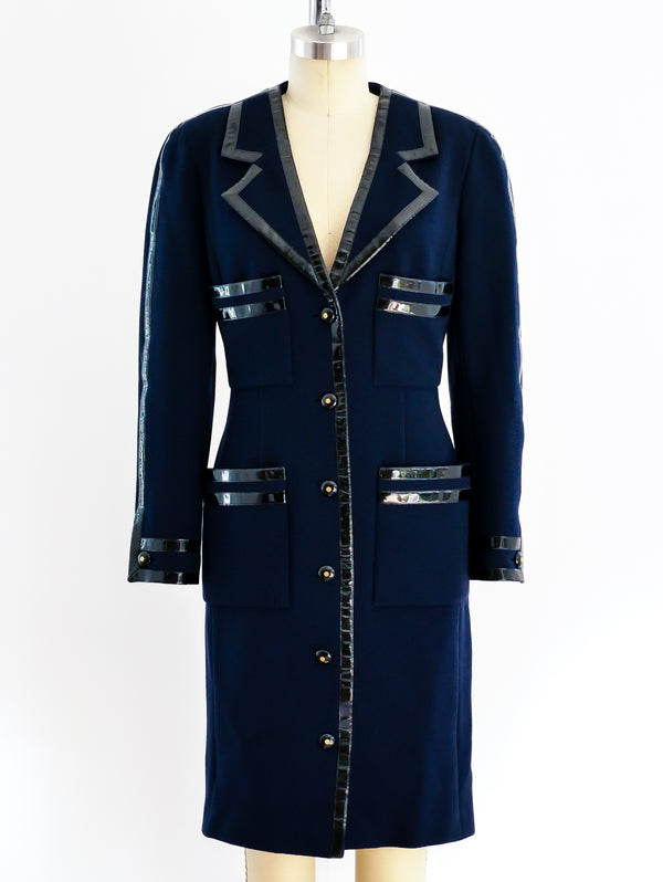 Chanel Coat with Patent Trim