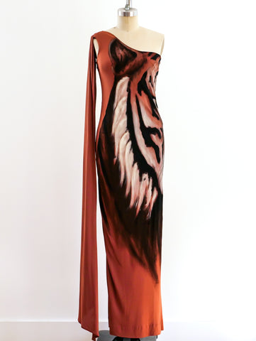 Hand Painted Tiger Face Dress