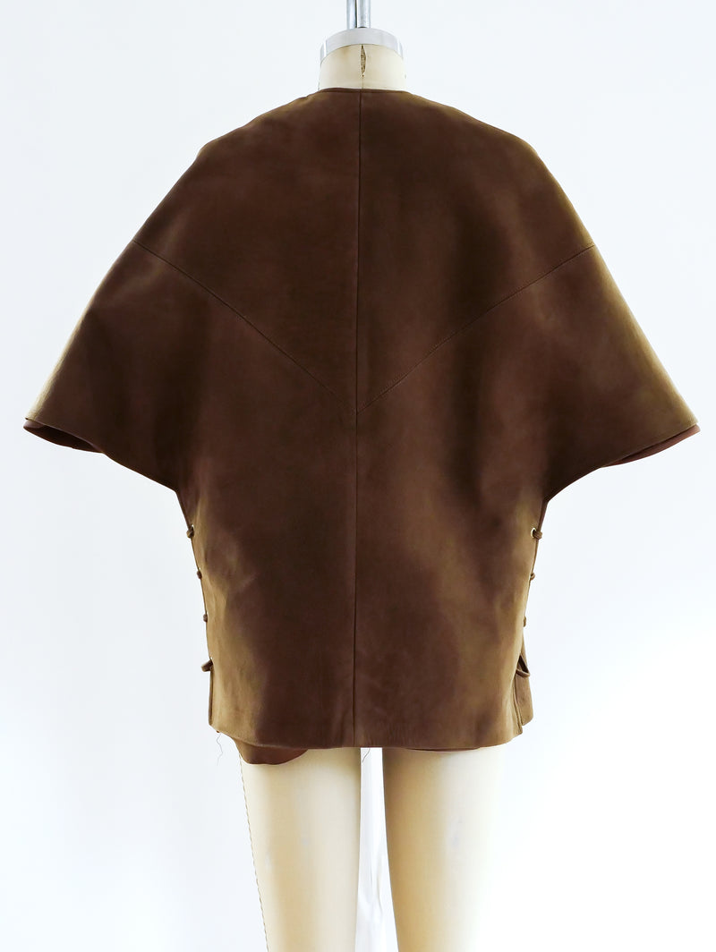Taupe Suede Shawl Jacket