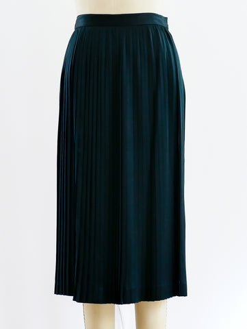 Christian Dior Pleated Satin Skirt