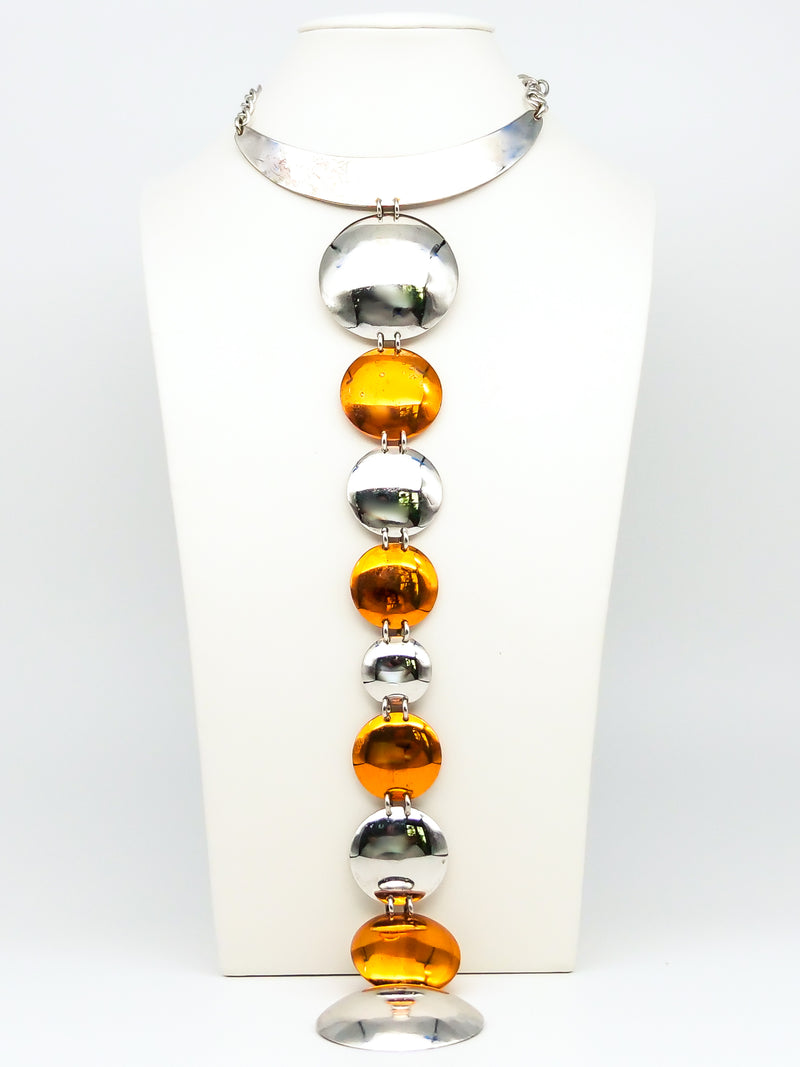 Space Age Disc Necklace