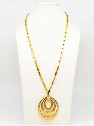Concentric Circles Pendant Necklace
