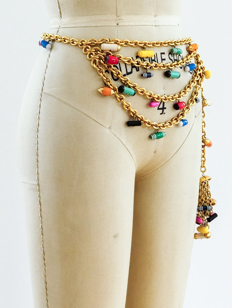 Chanel Fall 1991 Pill Charm Belt