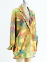 Brushstroke Leather Jacket