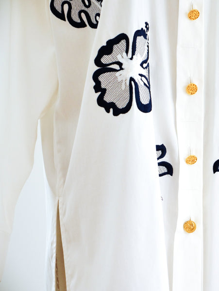 Escada Leaf Embroidered Shirt