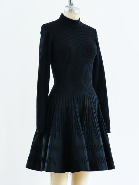 Alaia Fit and Flare Knit Dress