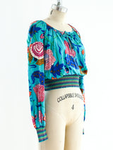 Missoni Knit Banded Floral Top
