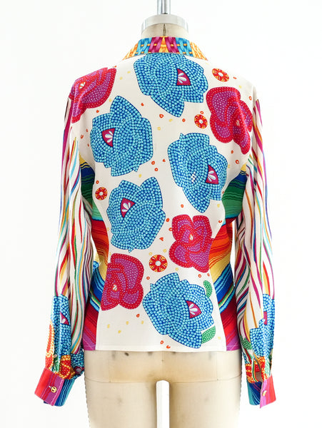 Escada Printed Silk Shirt