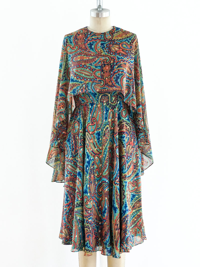 Oscar de la Renta Cape dress