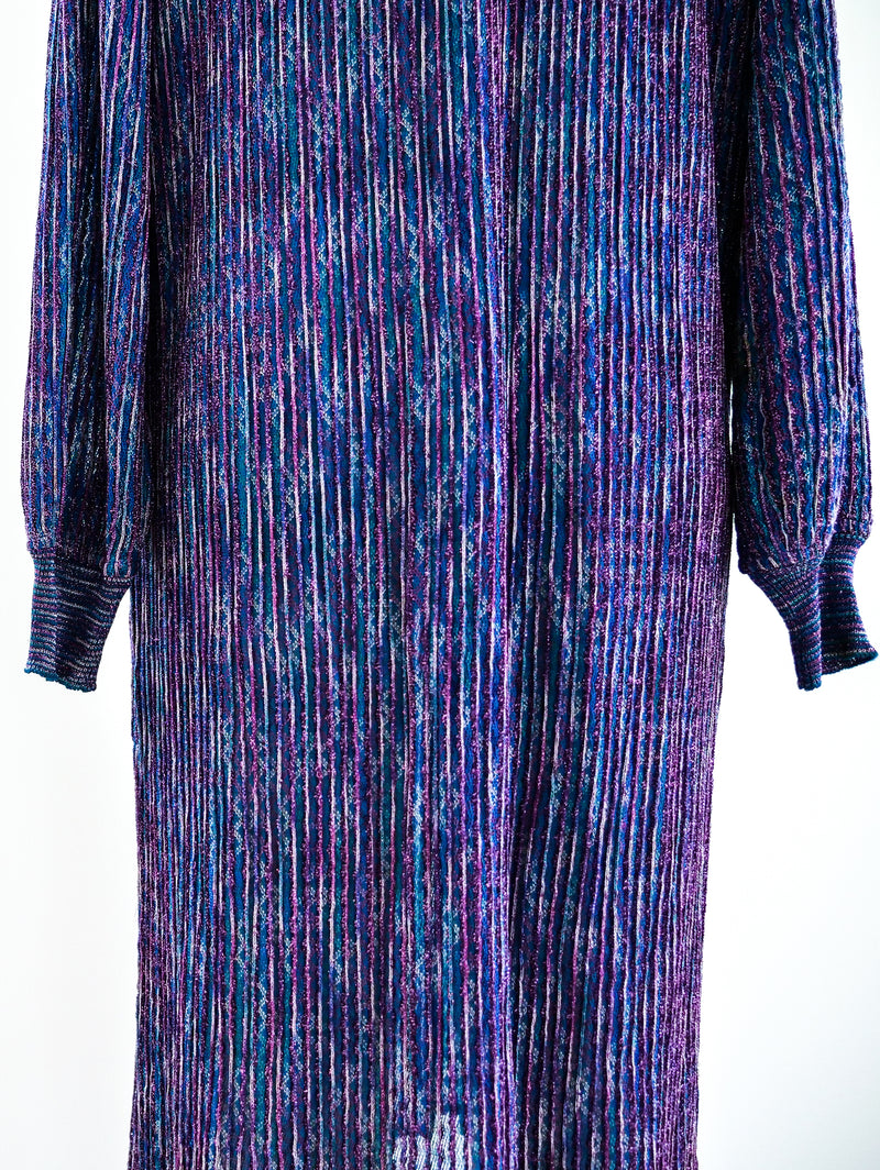 1970's Missoni Lurex Knit Dress
