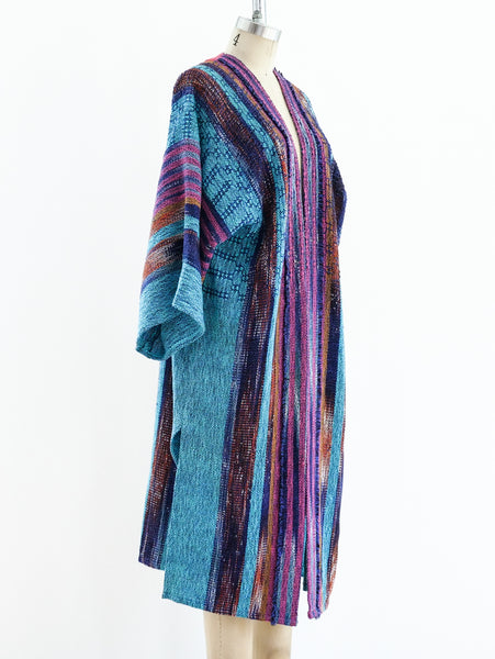 Handwoven Ikat Multicolor Duster