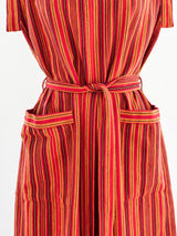Yves Saint Laurent Woven Striped Dress