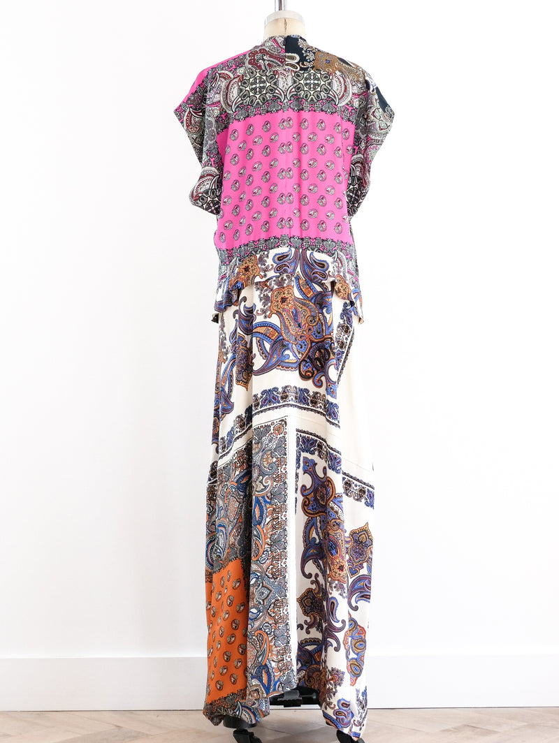 Chloe Scarf Print Silk Maxi Dress