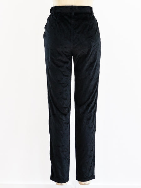 1990's Moschino Zippered Velvet Pants