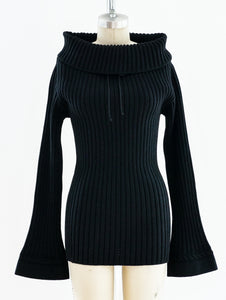 Alaia Black Turtleneck Sweater
