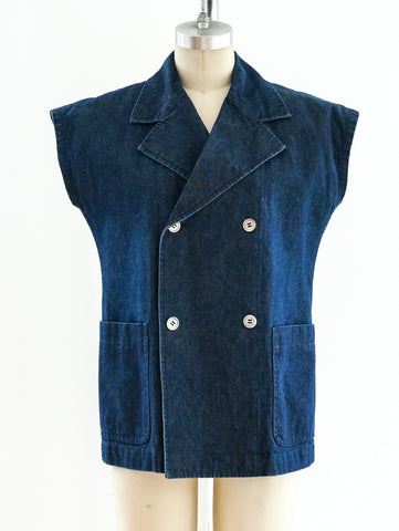 Comme des Garcons Sleeveless Denim Top