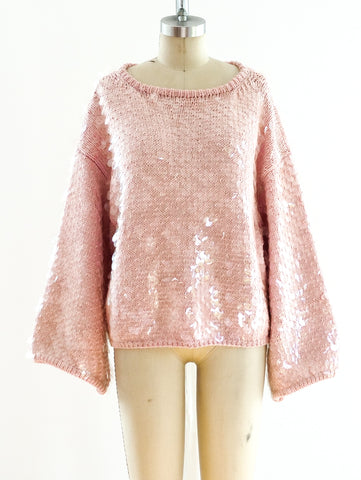 Perry Ellis Paillette Embellished Sweater