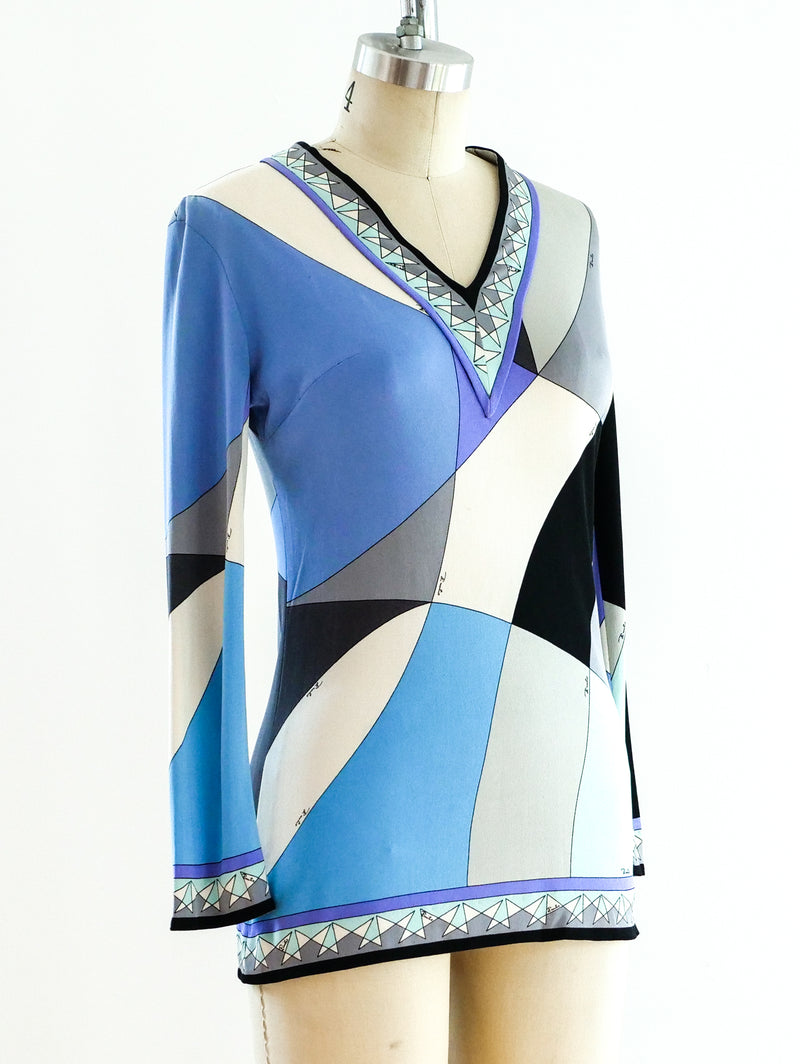 Pucci Print Jersey Top