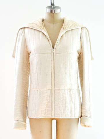 Norma Kamali Quilted Silk Jacket
