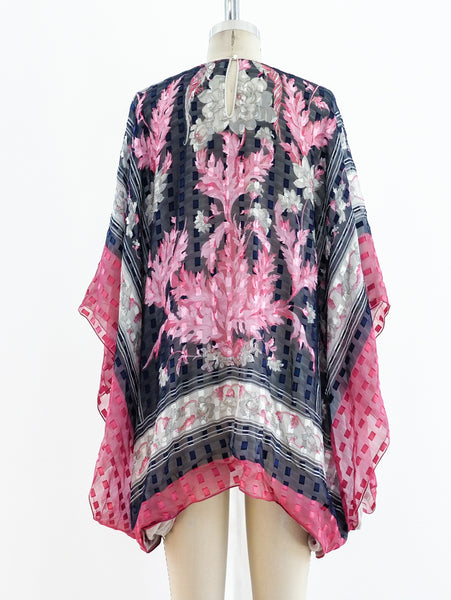 Silk Floral Caftan Top