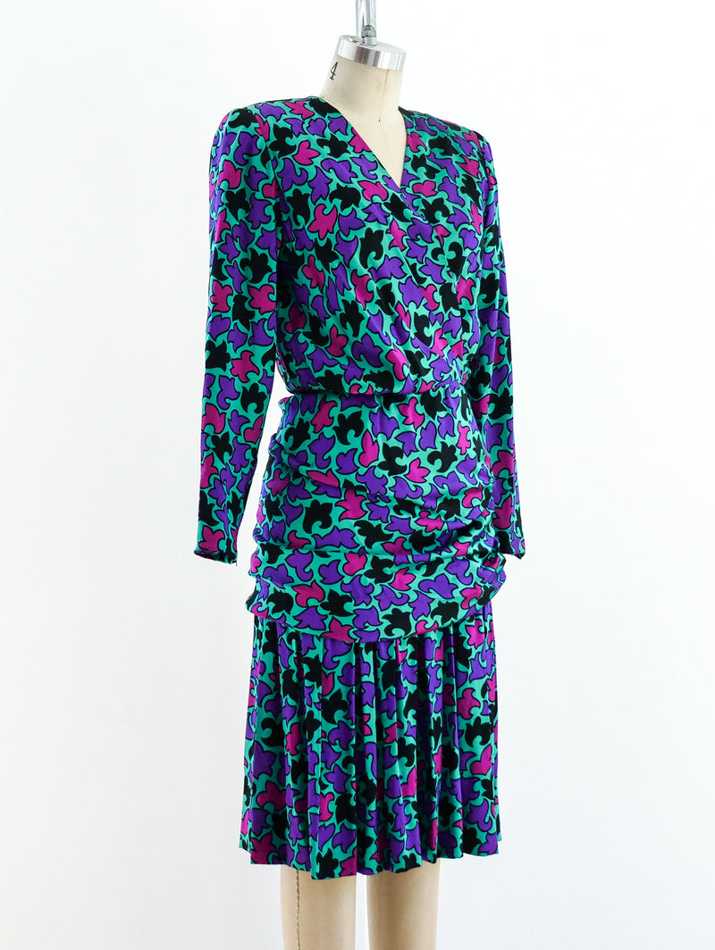 Givenchy Silk Jewel Tone Dress