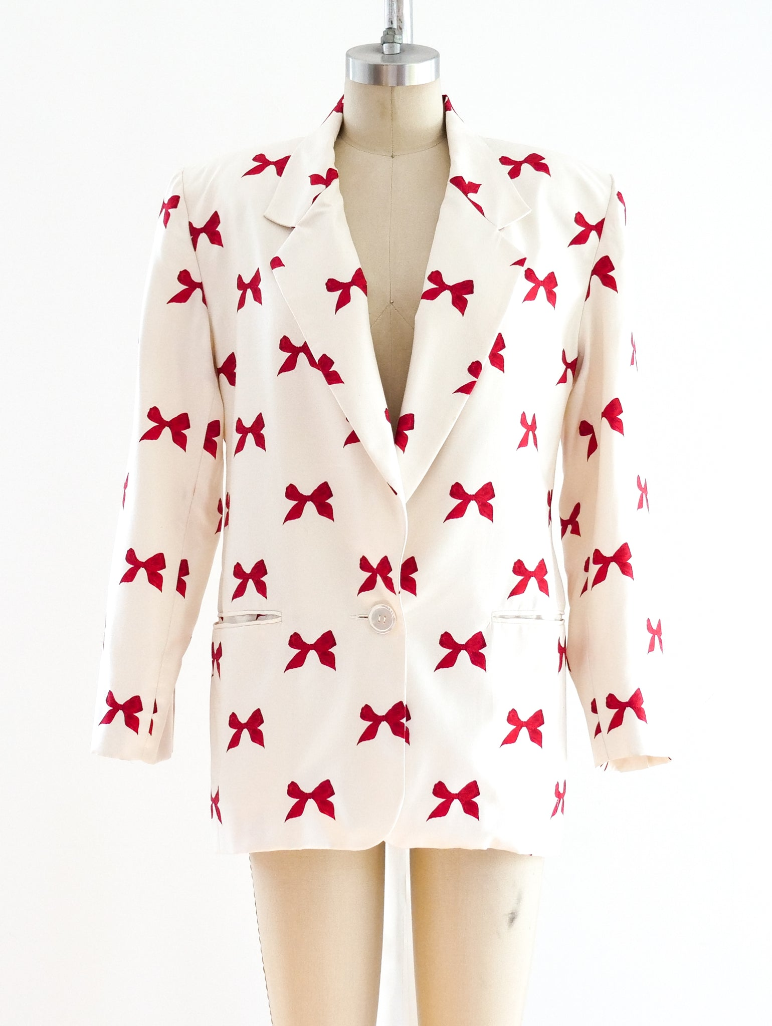 Perry Ellis Bow Print Blazer