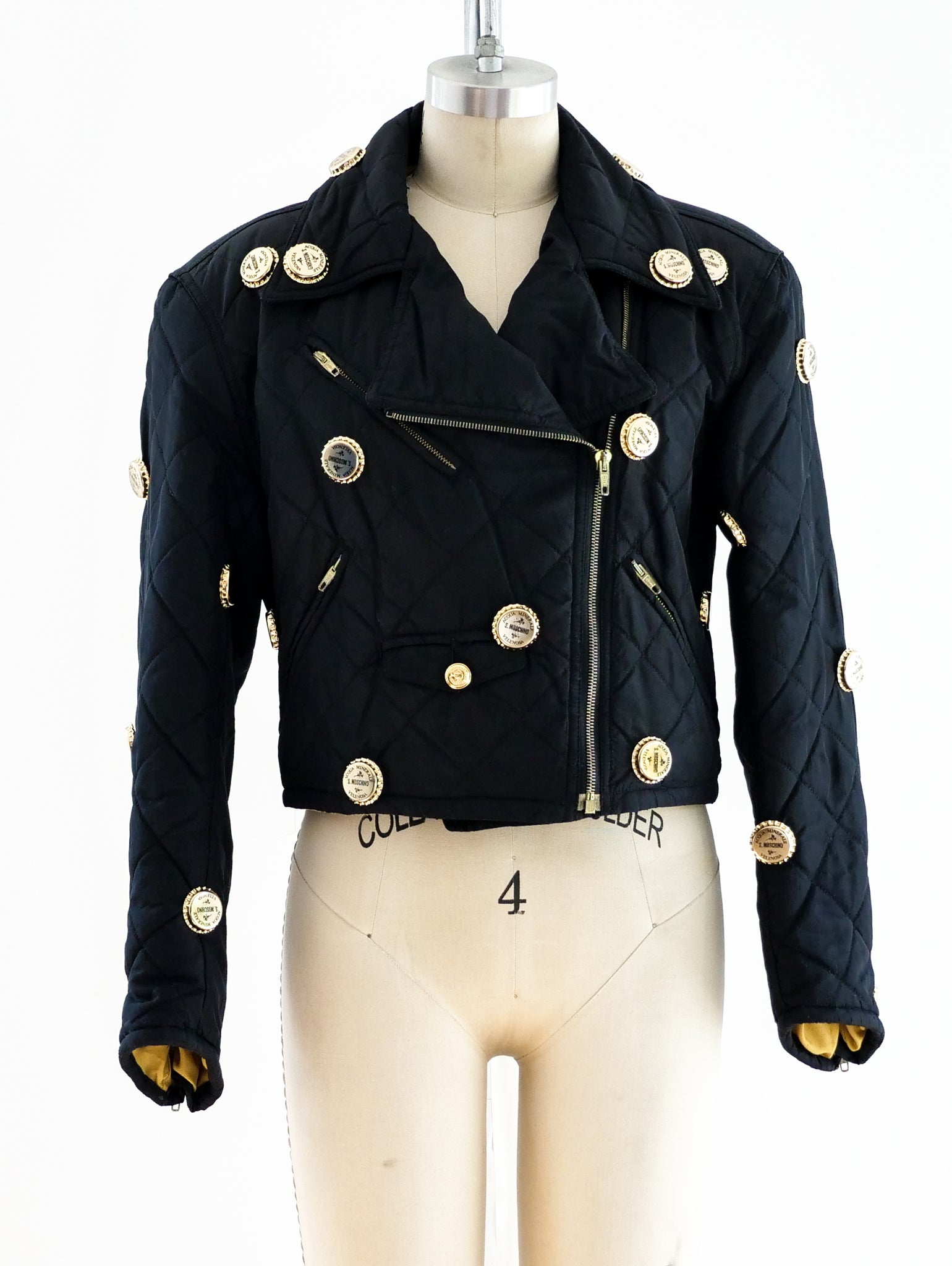 Moschino Bottle Cap Studded Jacket