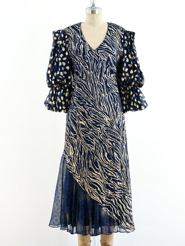 Judy Hornby Navy and Gold Dress