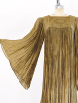 Sage Green Pleated Dress
