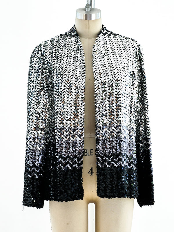 Ombre Silver Sequin Jacket
