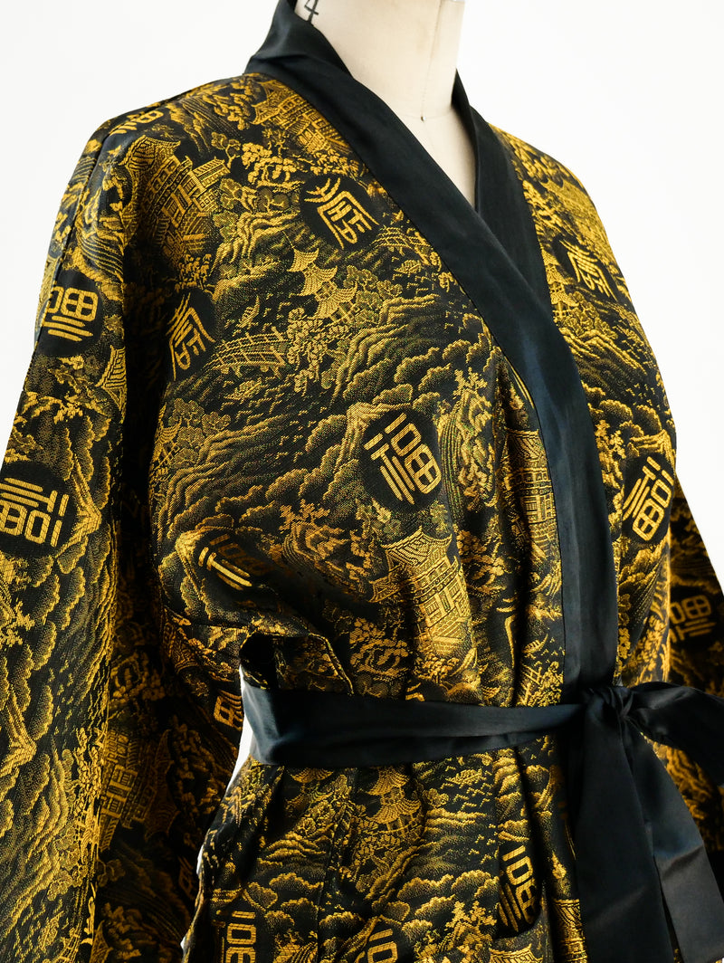 Gold Jacquard Chinese Robe