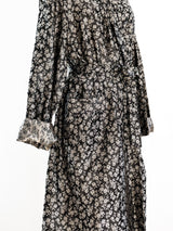Silver Jacquard Belted Robe