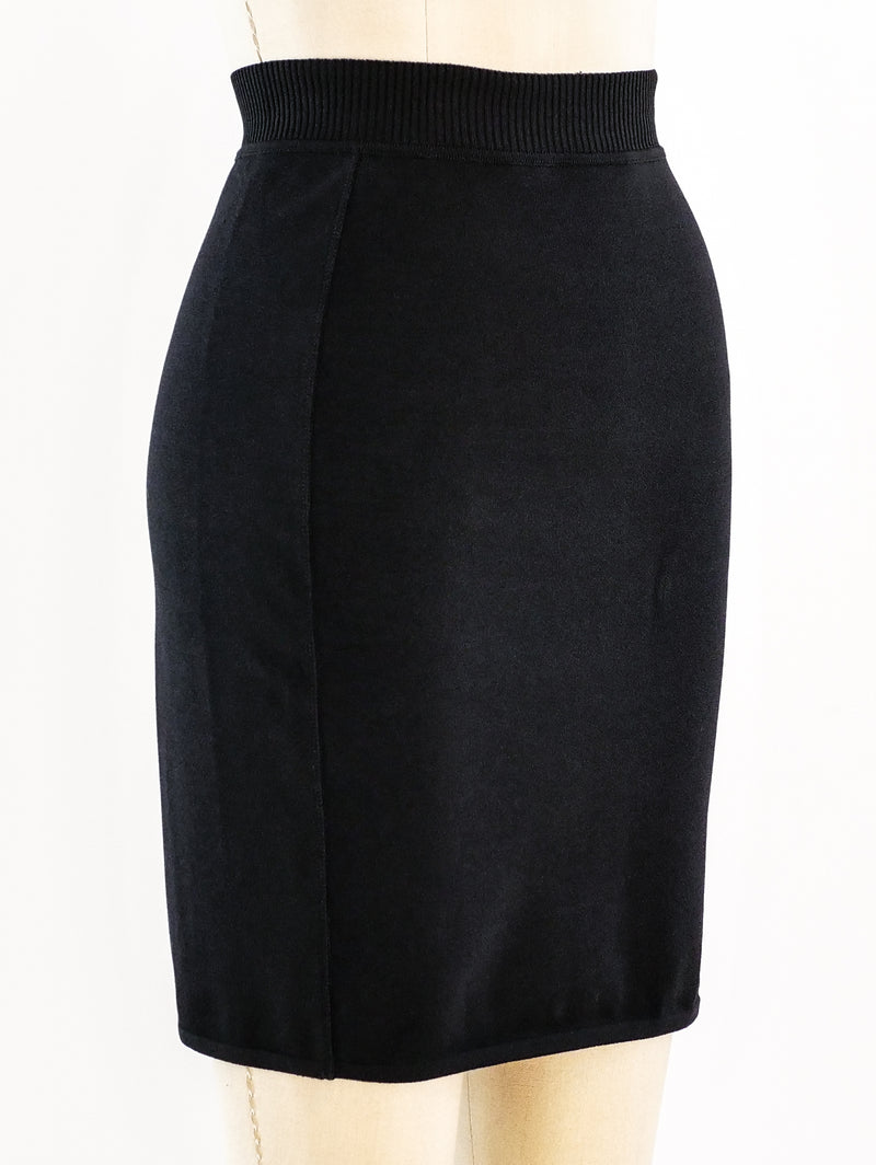 Alaia Knit Mini Skirt