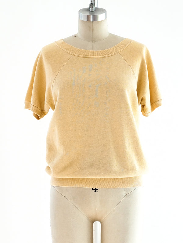 Butter Yellow Short Sleeve Sweatshirt