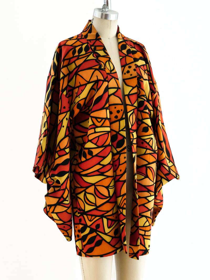 Stained Glass Printed Kimono