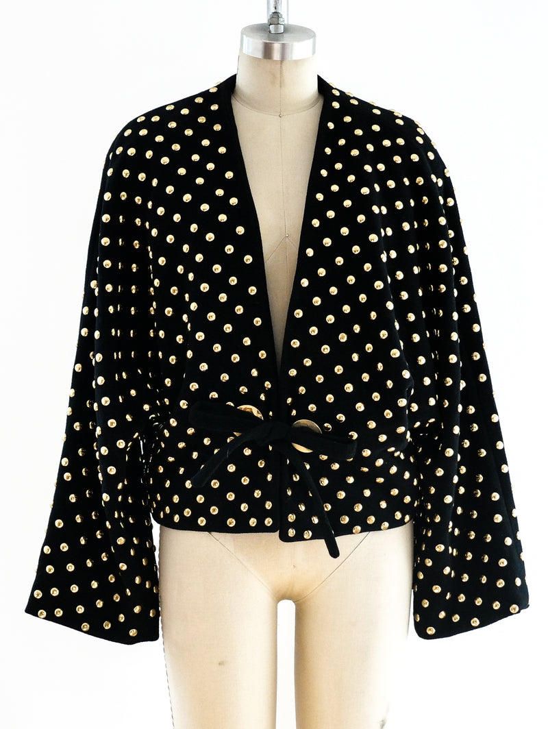 Anne Klein Studded Wool Jacket
