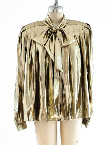 Metallic Gold Lurex Top