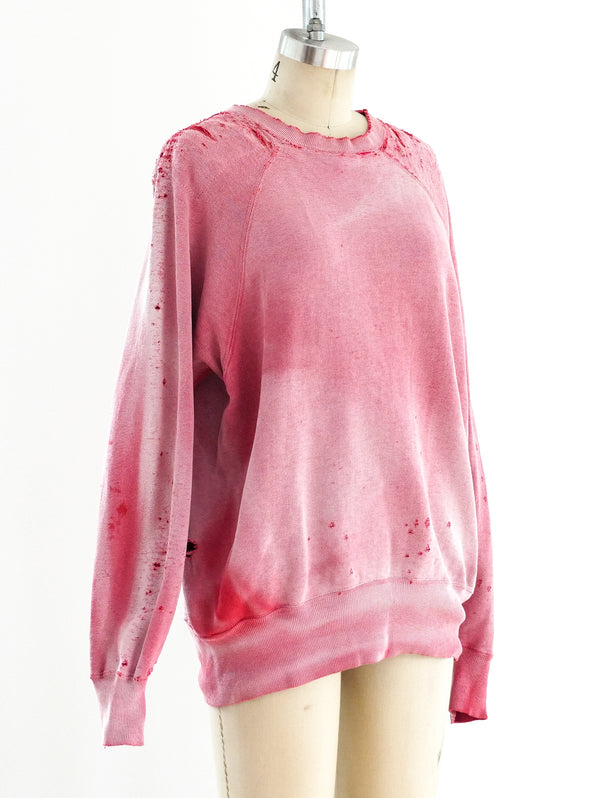 1950's Distressed Red Sweatshirt