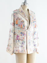 Fully Embroidered Silk Jacket