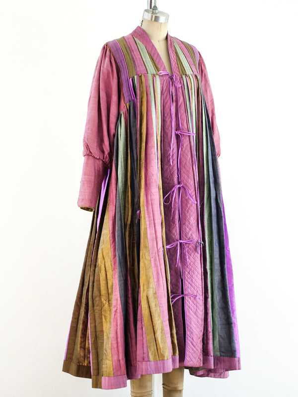 Raw Silk Pleated Caftan