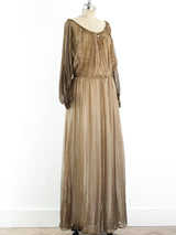 John Bates Degrade Chiffon Maxi Dress