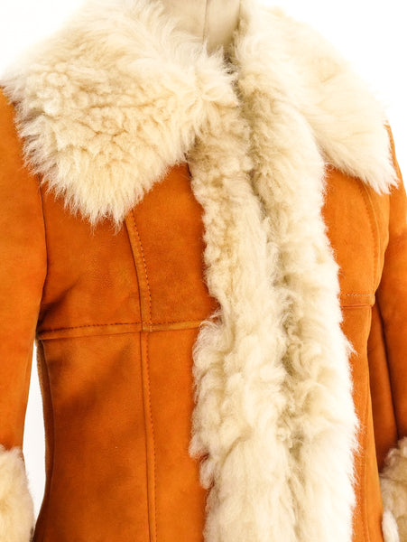 Shearling Trimmed Suede Jacket
