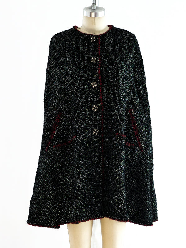 Chanel Metallic Tweed Cape