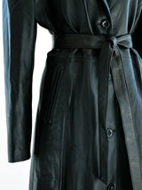 Gianni Versace Leather Overcoat