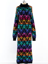 Rainbow Knit Column Dress
