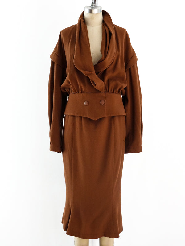 Thierry Mugler Burnt Sienna Skirt Suit