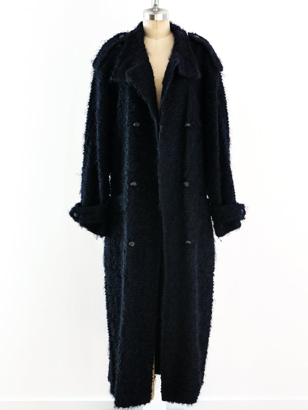 Escada Navy Boucle Coat