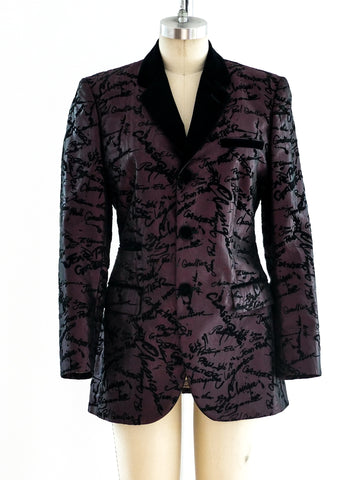 Jean Paul Gaultier Signature Print Jacket